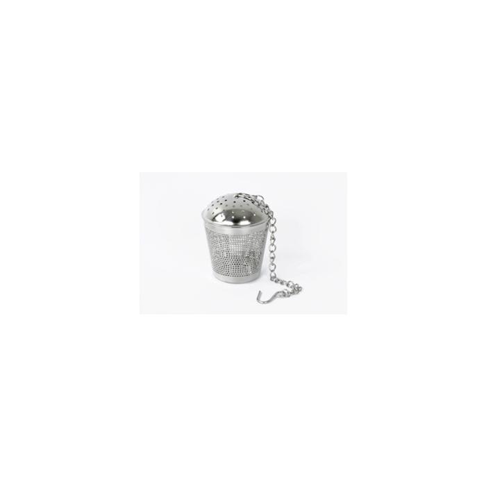 Filtro tè a secchiello con catena in acciaio inox cm 5,5x4,3