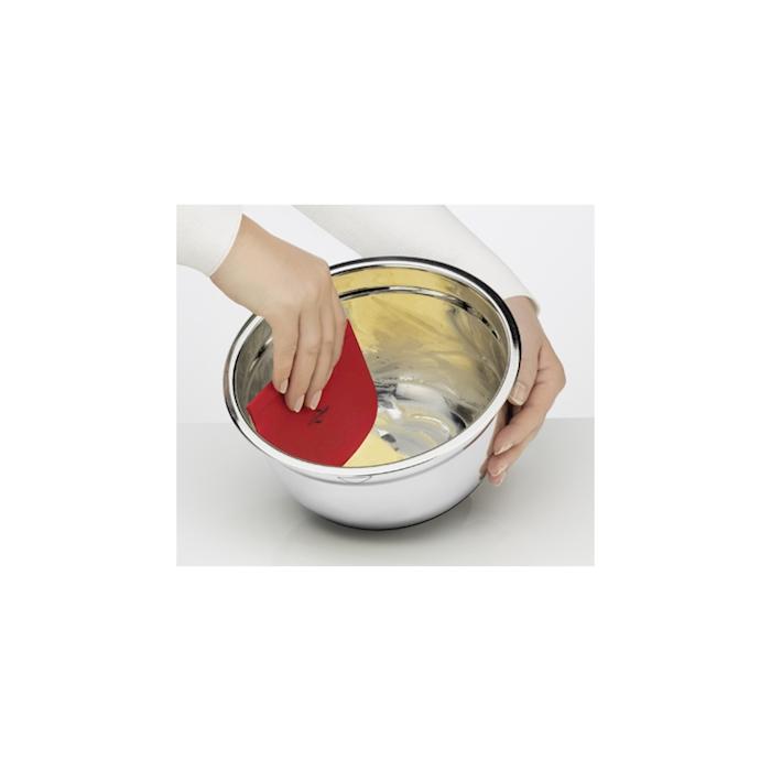Spatole da cucina impilabili in plastica bianca nera e rossa