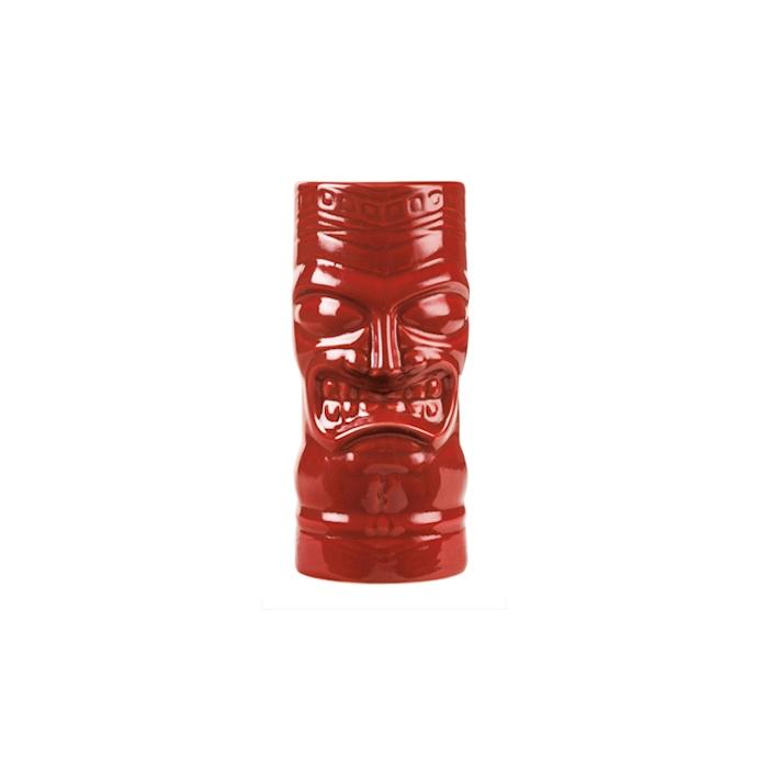 Tiki mug in porcellana rossa cl 59