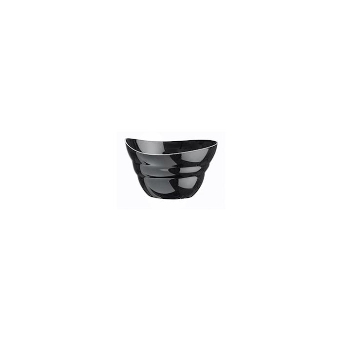 Coppetta Shell monouso in plastica nera cl 5