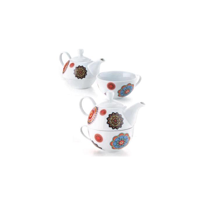 Teiera Tea for One Kerala N.3 in porcellana decorata