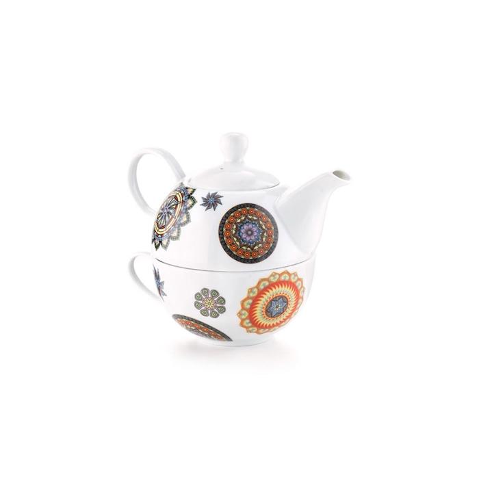 Teiera Tea for One Kerala N.2 in porcellana decorata