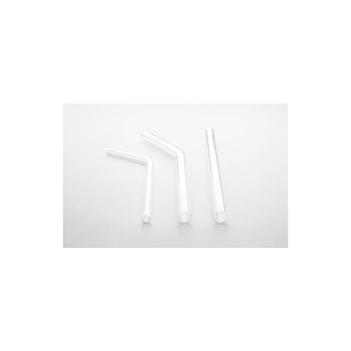 Cannuccia curva 100% Chef in vetro trasparente cm 17x0,6