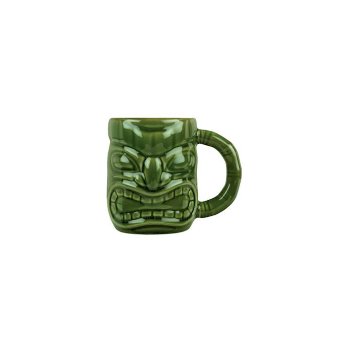 Tiki mug con manico in porcellana verde cl 47