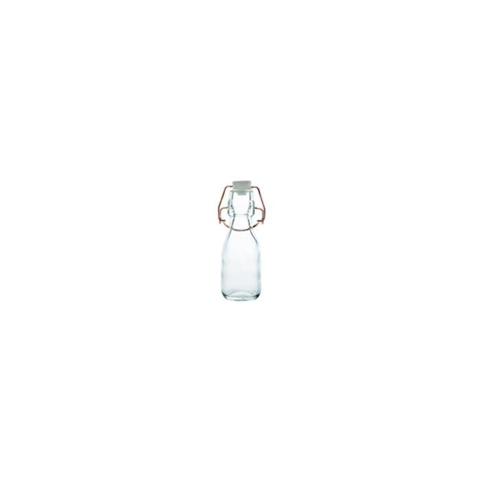 Mini bottiglia con tappo ermetico in vetro cl 10