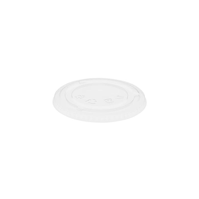 Coperchio monouso senza foro per bicchieri Crystal Duni in rpet trasparente