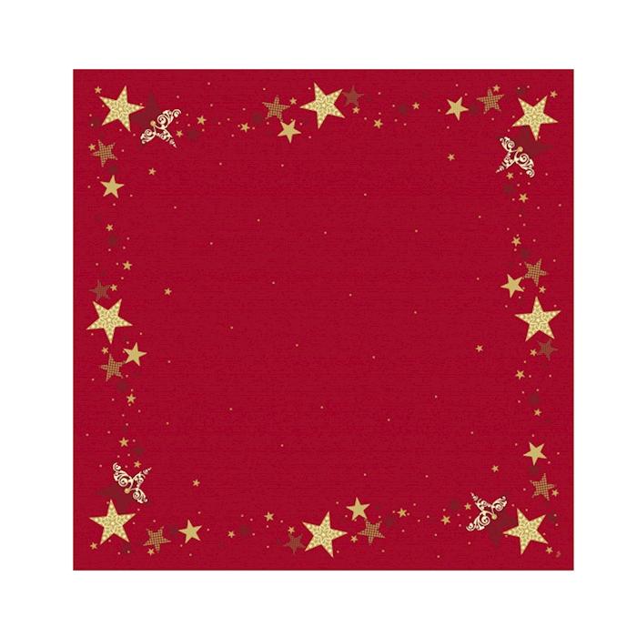 Tovaglia coprimacchia Natale Stella Duni in cellulosa marrone cm 84x84