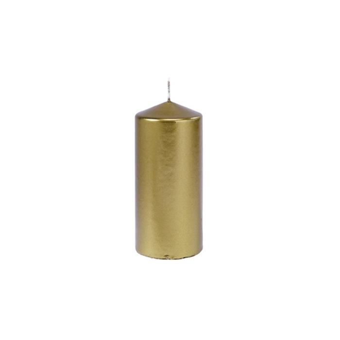 Candela Pillar Duni oro cm 15x7