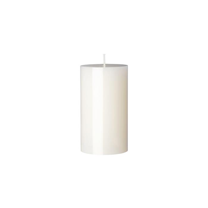Candela Pillar Duni bianca cm 12x7