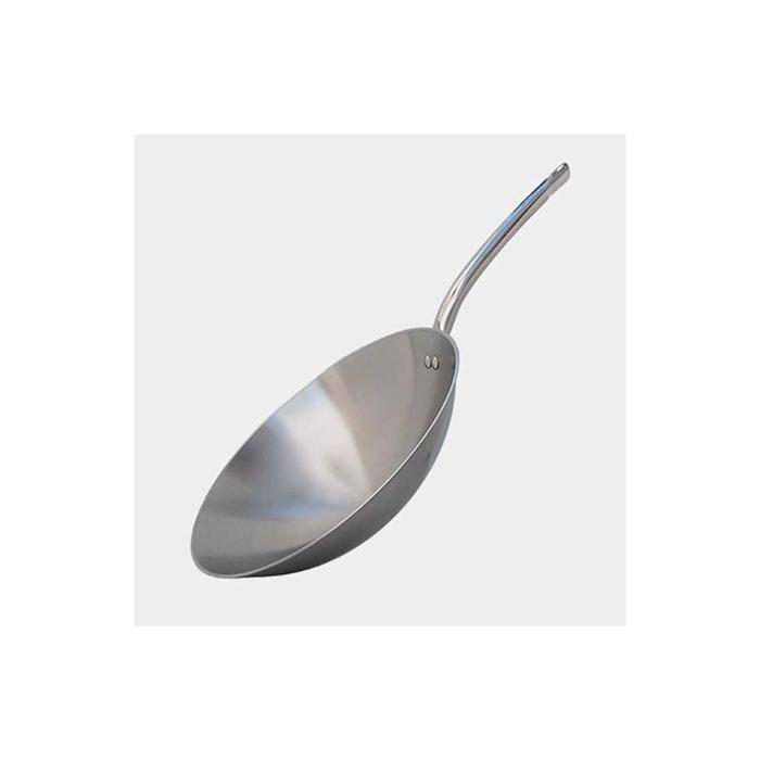 Wok per induzione De Buyer un manico in acciaio inox cm 36
