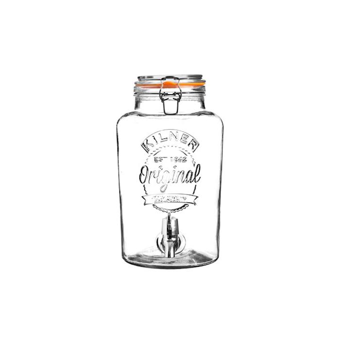 Vaso ermetico Drink Vintage Kilner in vetro liscio lt 8
