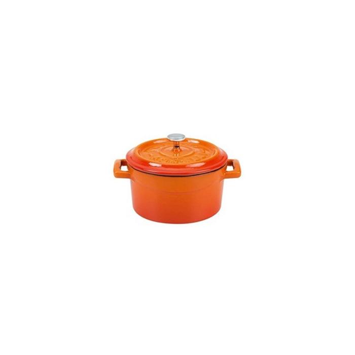 Mini casseruola Slowcook con coperchio in ghisa arancione cm 14
