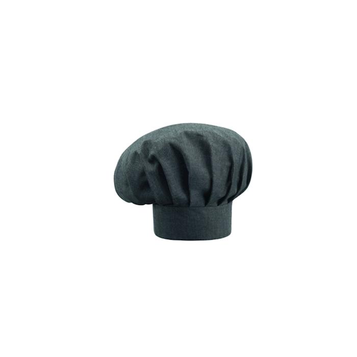 Cappello cuoco grigio fumo in poliestere e cotone