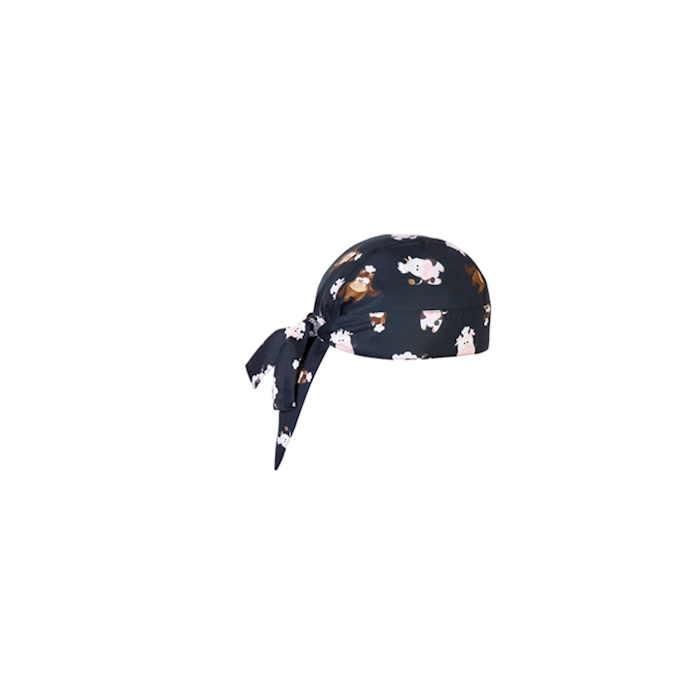 Bandana Puppies nera con cuccioli 100% cotone