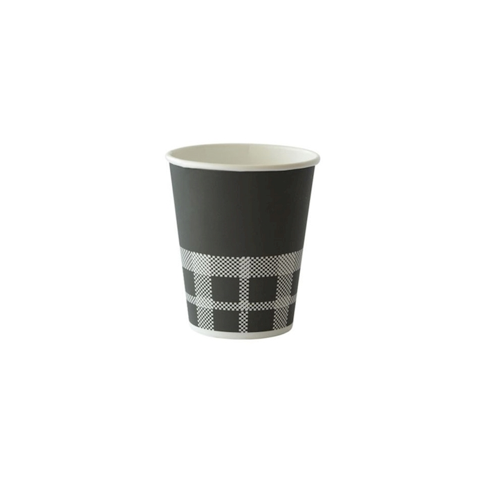 Bicchiere cappuccio Izza Duni in cartone nero e bianco cl 24