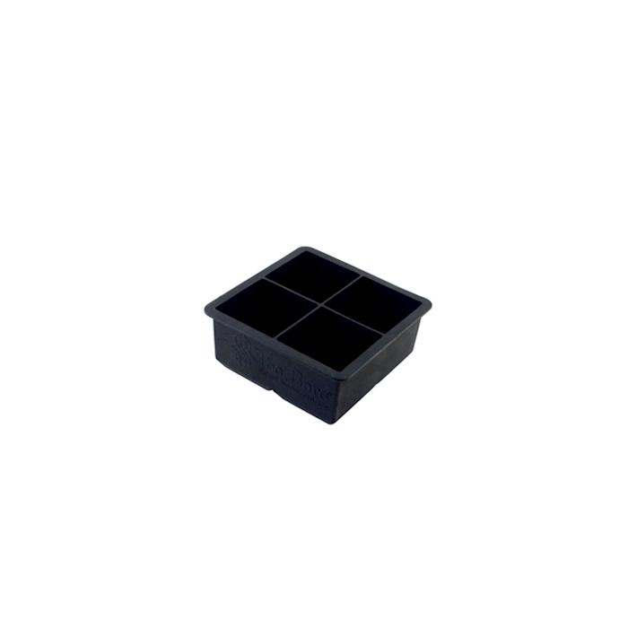 Stampo ghiaccio 4 cubi in silicone nero cm 5,7