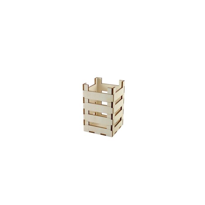Mini cassetta in legno naturale cm 8x8x12,5