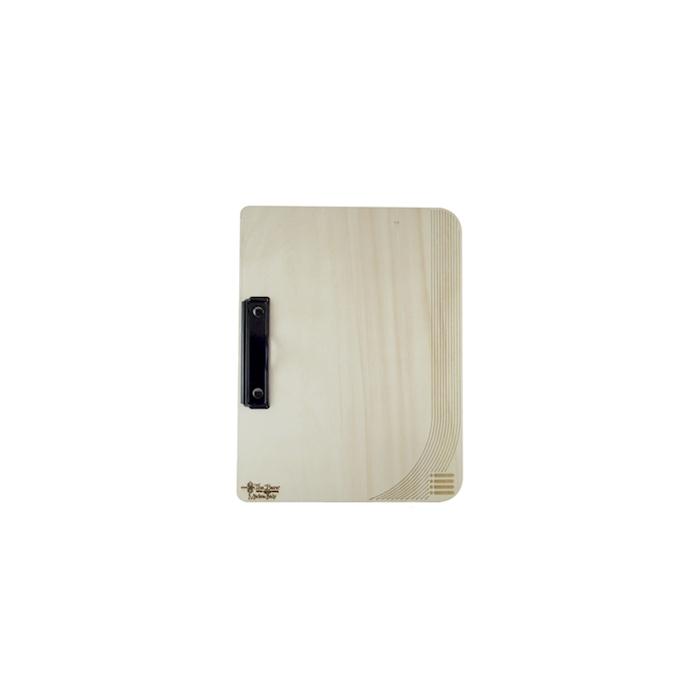 Porta menù rettangolare in legno naturale cm 24x32