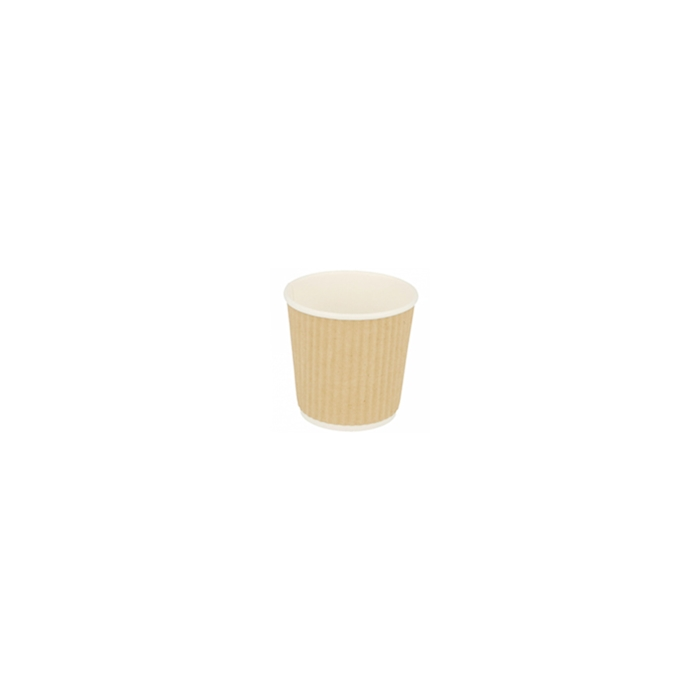 Bicchiere caffè monouso Triple Wall in carta marrone chiaro cl 12
