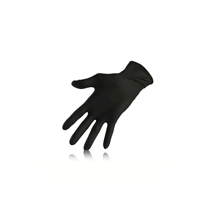 Guanti monouso Nitril Black senza polvere in nitrile nero taglia M