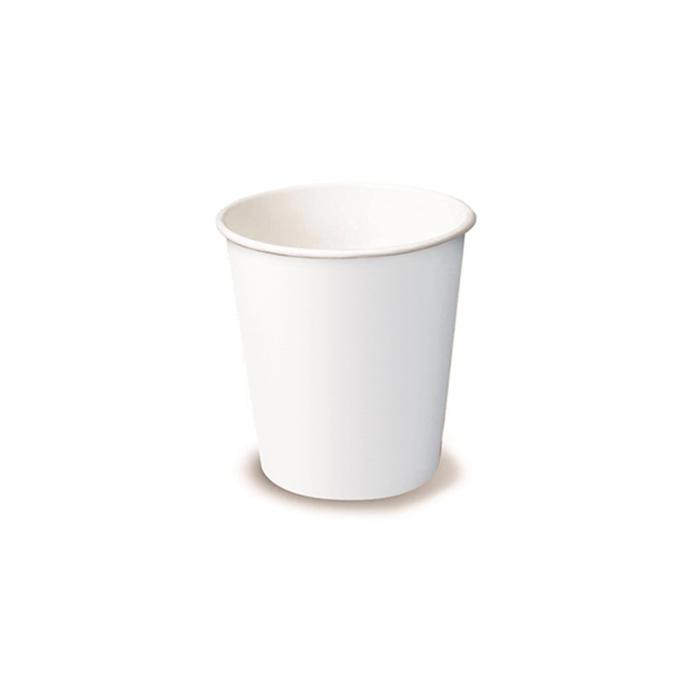 Bicchiere cappuccio monouso in cartone bianco cl 25