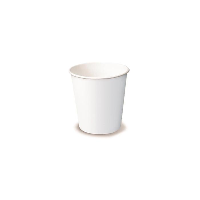 Bicchiere caffè monouso in cartone bianco cl 17,5