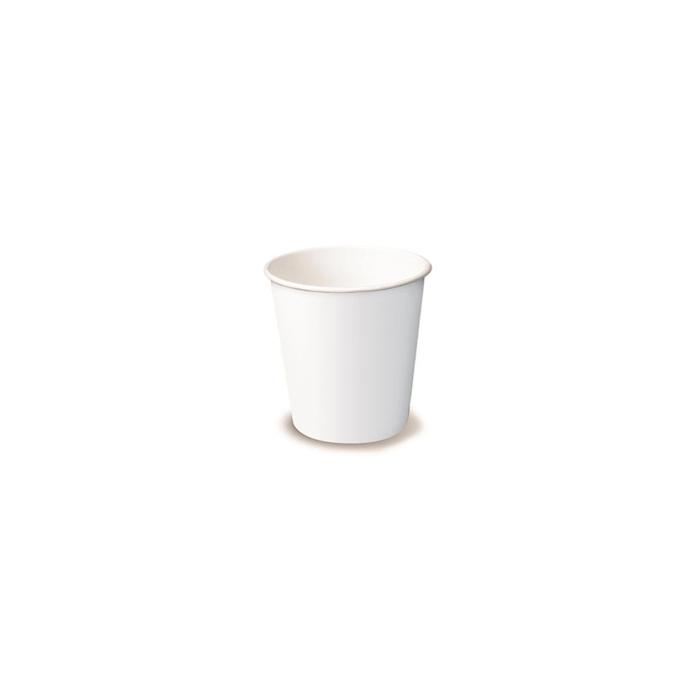 Bicchiere caffè monouso in cartone bianco cl 10