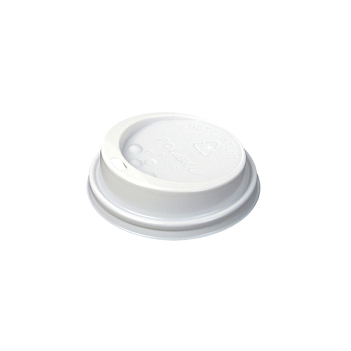 Coperchio monouso con foro per bicchiere cappuccio in plastica bianca cm 9,1