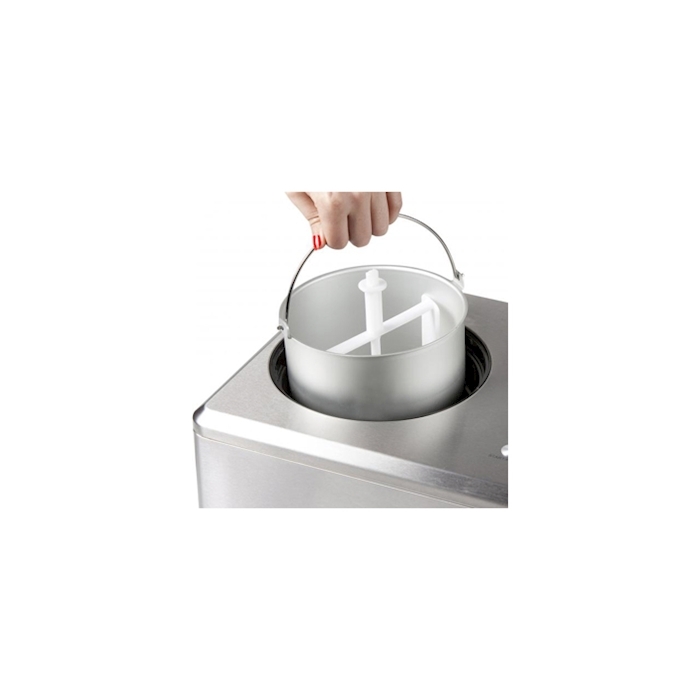 Macchina per sorbetto e gelato Domo Pro in acciaio inox lt 2