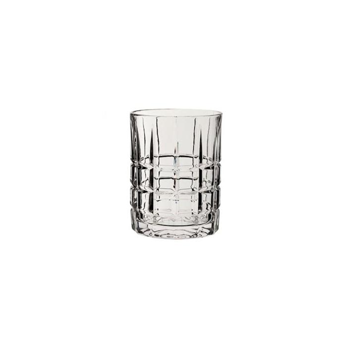 Bicchiere Deco a scacchiera dof in vetro trasparente cl 31