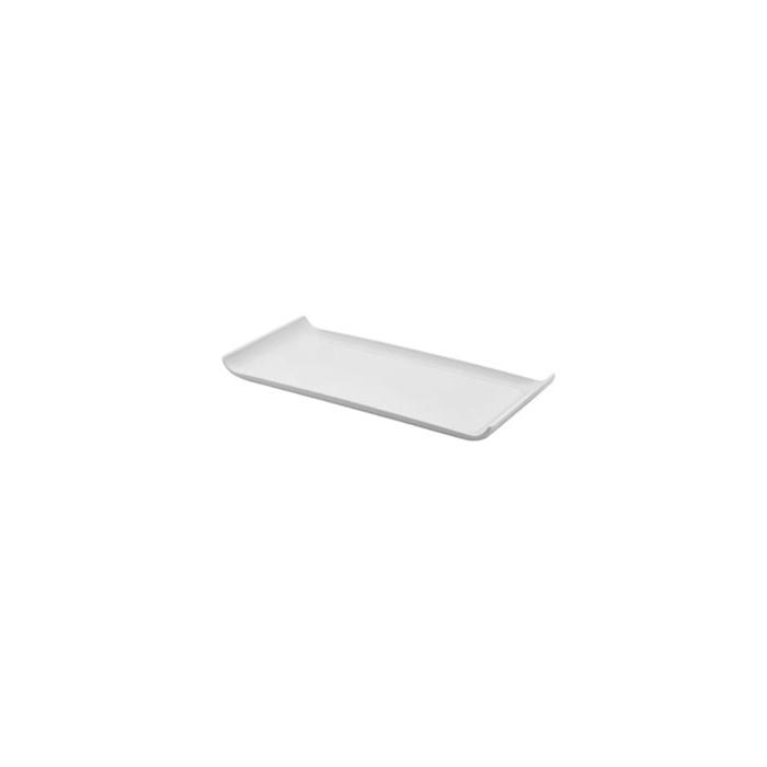 Vassoio rettangolare in melamina bianco cm 30x14