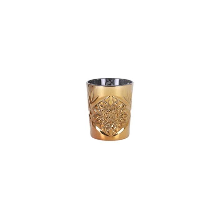 Bicchiere Hobstar dof gold in vetro dorato cl 35,5