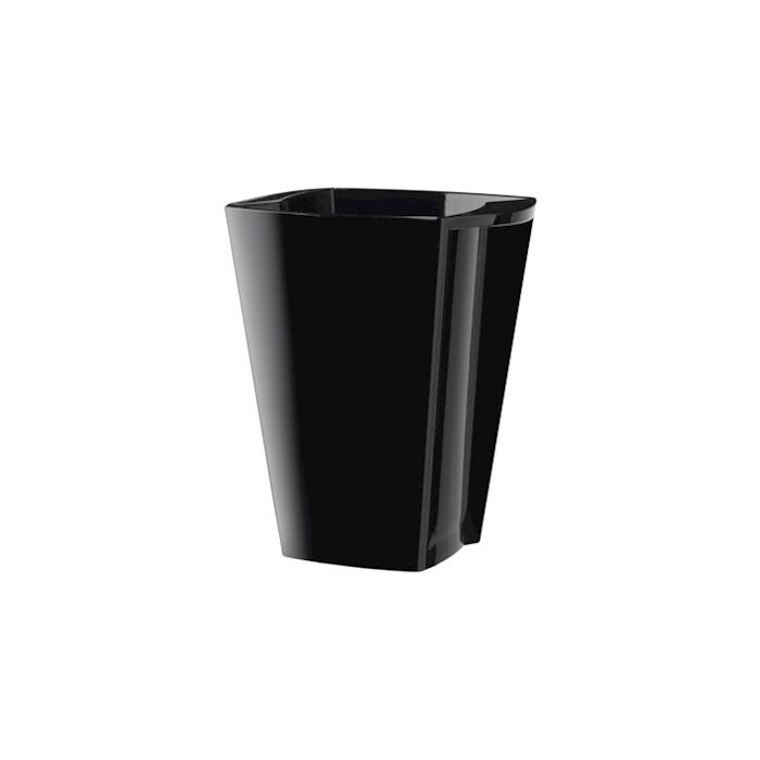 Secchiello Alaska in acrilico nero cm 19,5x21x25