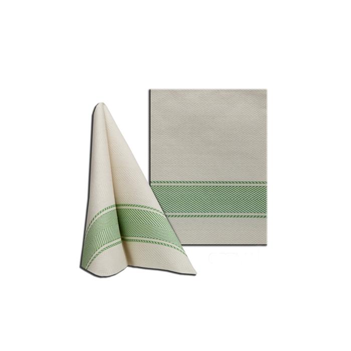 Tovagliolo Kitchen in cellulosa champagne e verde cm 30x40