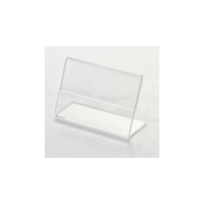 Espositore porta cartellini in plexiglass cm 10x5