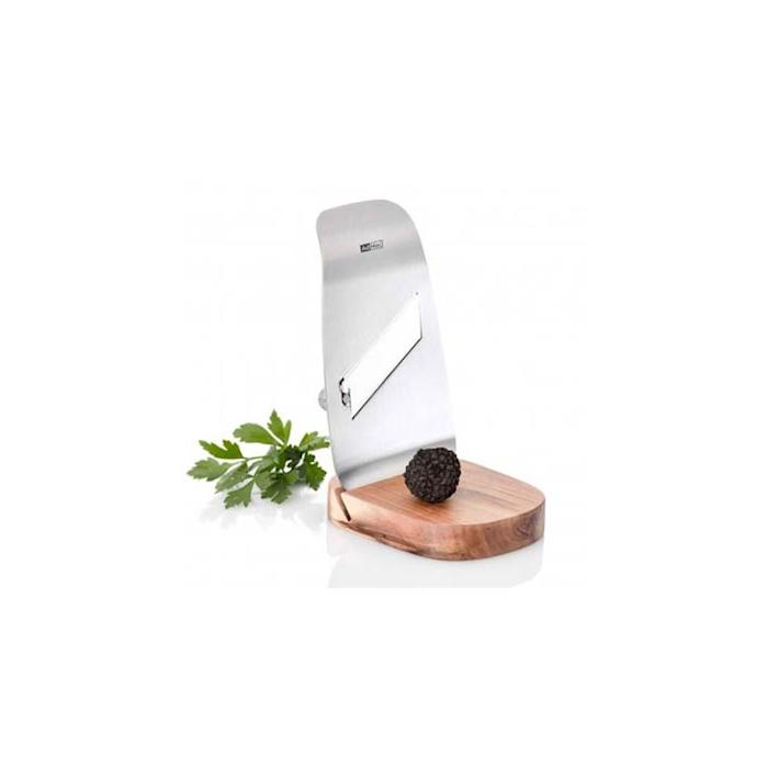 Tagliatartufi Tufo in acciaio inox e acacia