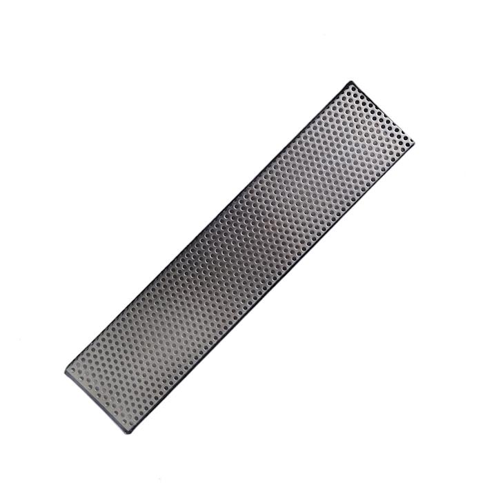 Bar mat con griglia fori tondi in acciaio inox cm 47