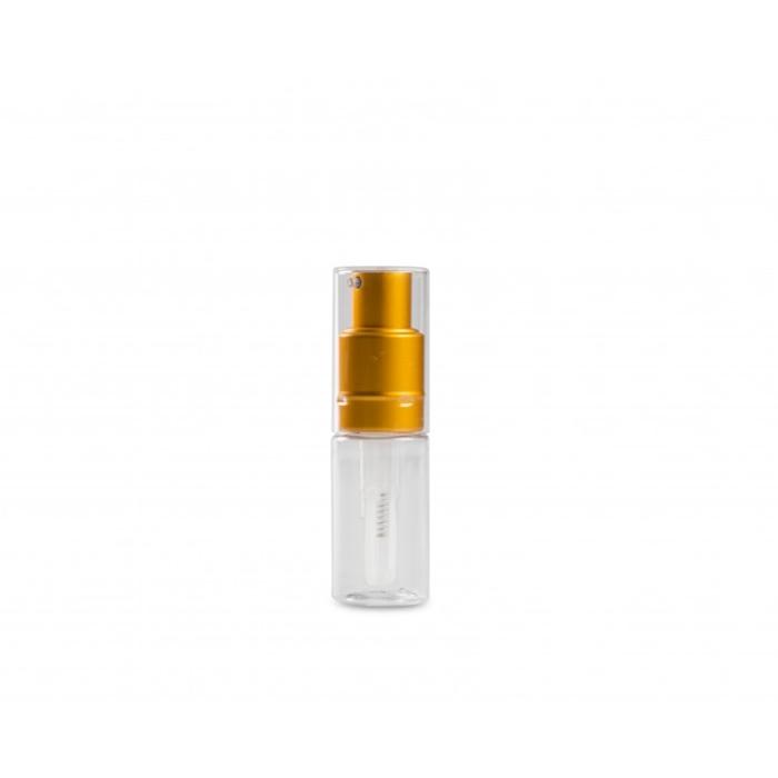 Bottiglietta spray per polvere 100% Chef in plastica con tappo oro