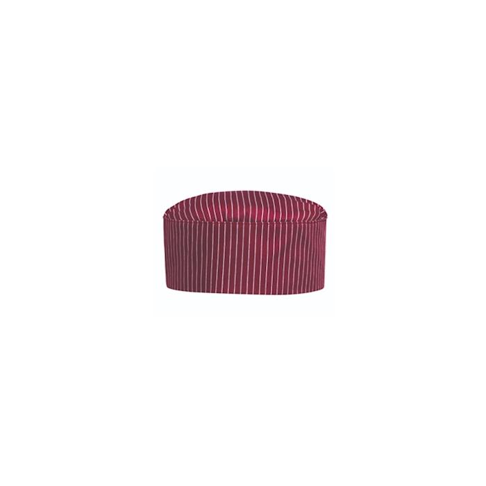 Cappello cuoco tamburello Wine bordeaux in poliestere e cotone