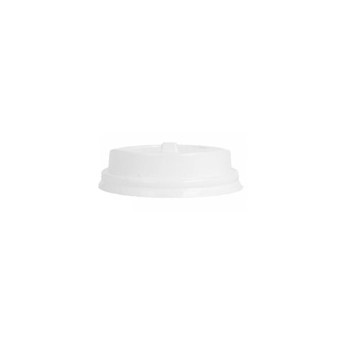 Coperchio monouso con foro per bicchiere da caffè in plastica bianco cm 6,3