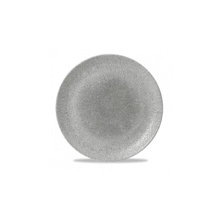 Piatto piano Studio Prints Raku Churchill in ceramica vetrificata grigia cm 28,8