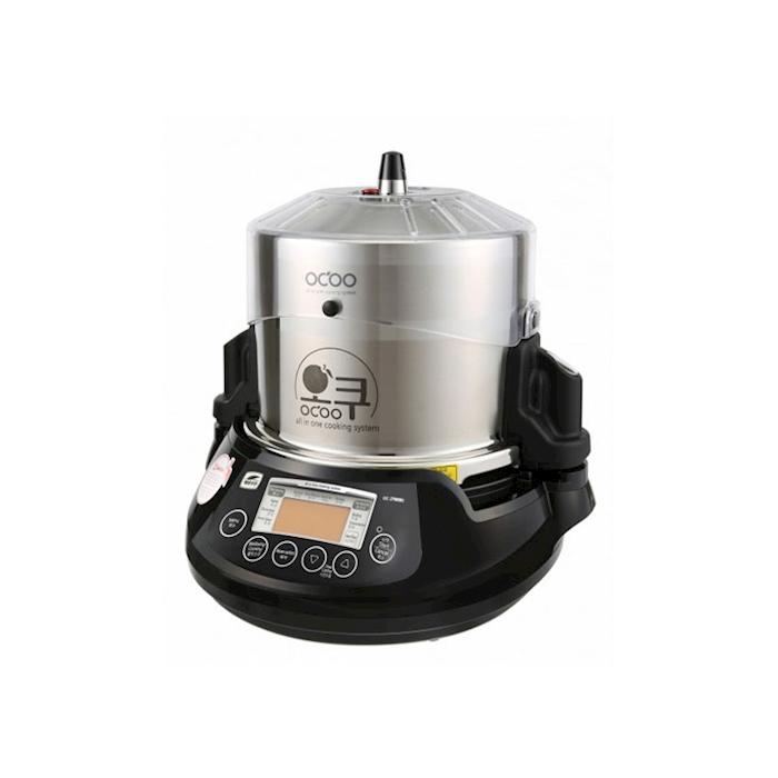 Pentola automatica Ocoo in acciaio inox e porcellana nera lt 2,5