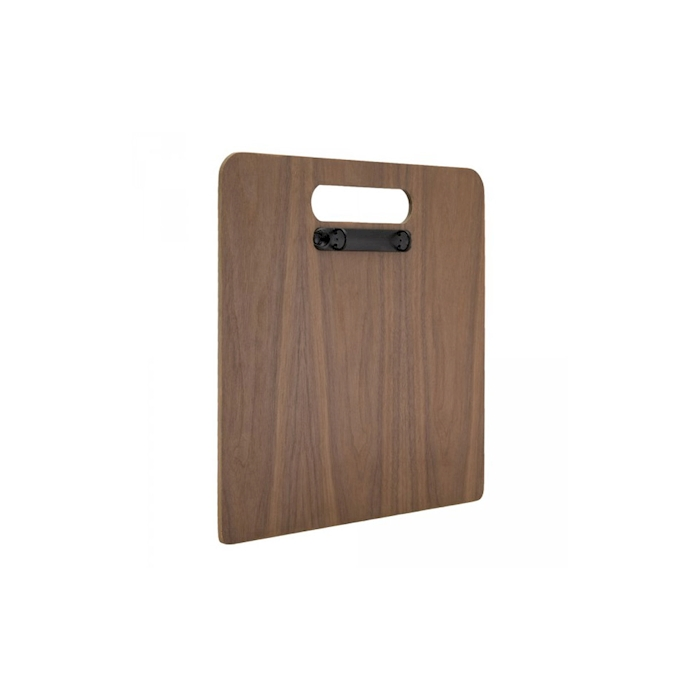 Porta menù a tagliere in legno di noce cm 30x33