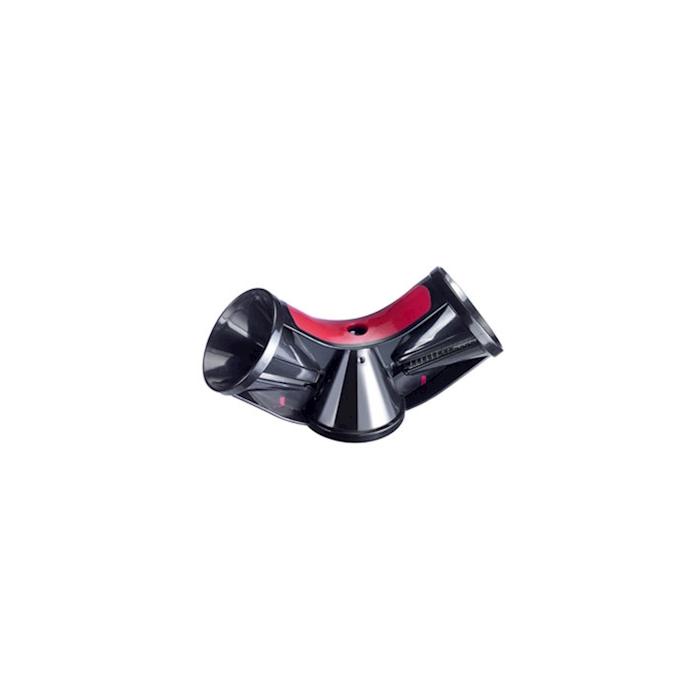 Temperino Triolo a spirale in abs e acciaio inox nero e rosso