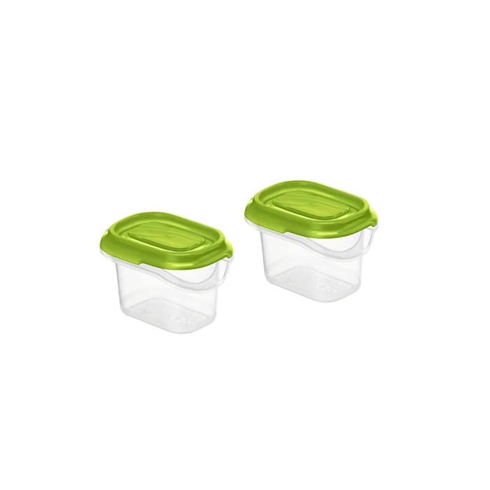 Contenitore frigo in polipropilene trasparente con tappo verde cl 7