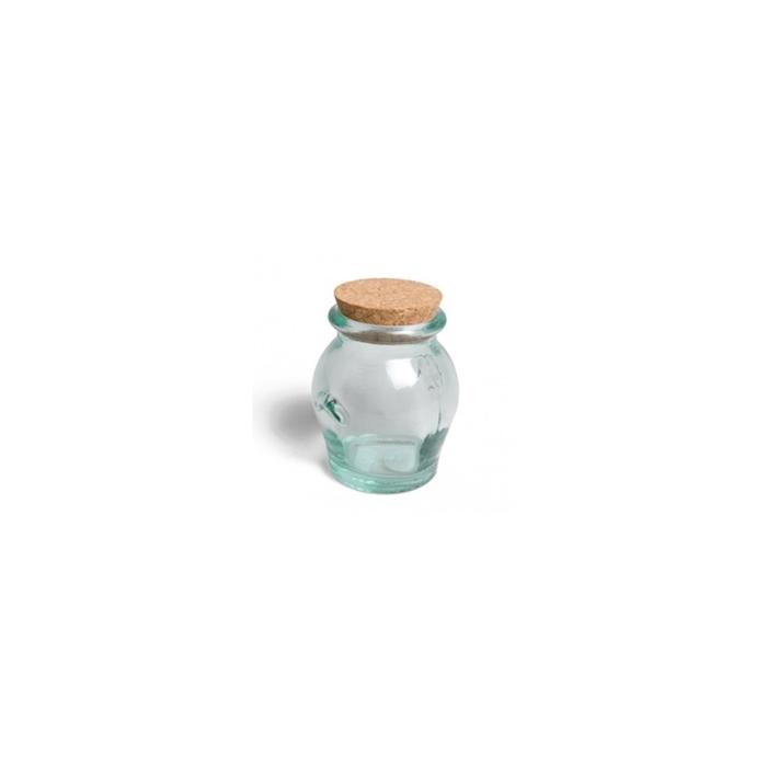 Barattolo Honey in vetro riciclato con tappo in sughero gr 284