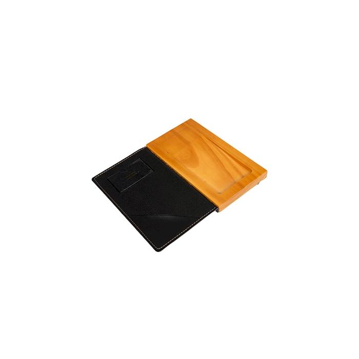 Rendi resto in legno e similpelle con elastico cm 18x10x2