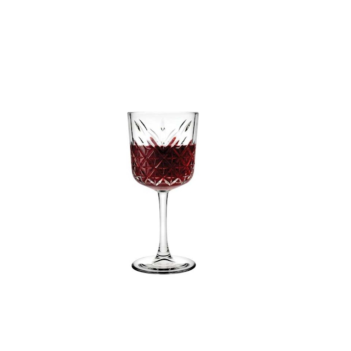 Calice vino Timeless in vetro decorato cl 33