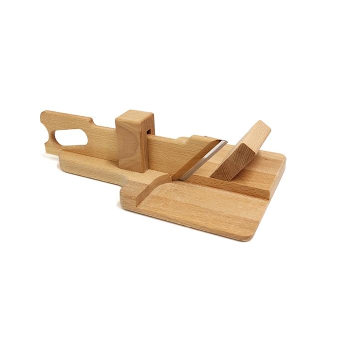 Affettasalame manuale in legno cm 33x19x10