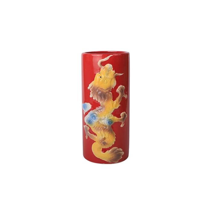 Tiki Mug Dragon in porcellana rossa con decoro cl 50